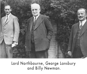 Lord Northbourne, George Lansbury and Billy Newman.